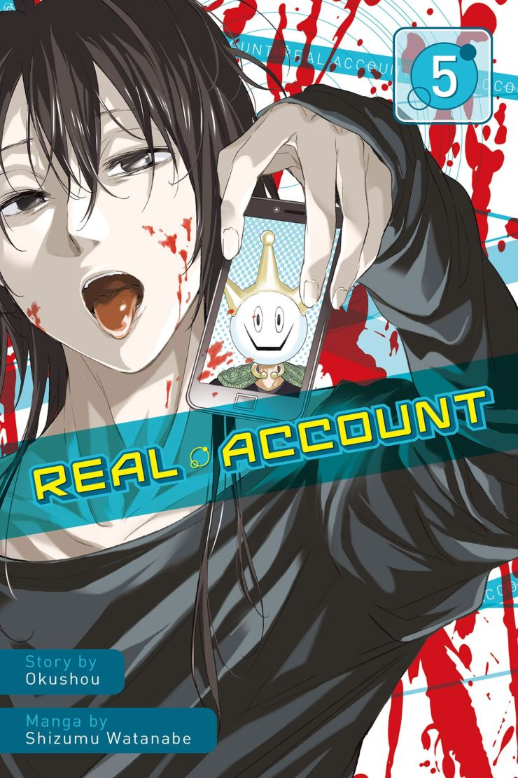 The story continues from the last volume as the characters are forced to stay awake or die! This series is about a huge swath of the public being sucked into the social media app known as Real Account; they're being forced to play games and maintain their followers or die. It's a rather inventive series that holds a mirror to society and so far has been great entertainment. Can it sustain the quality though? We review.