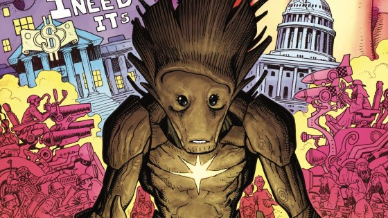 This is a Groot-centric story told via Seussian rhyme. It's also a collection of full and double page spreads which to me sounds like a very unique comic indeed, but is it good?