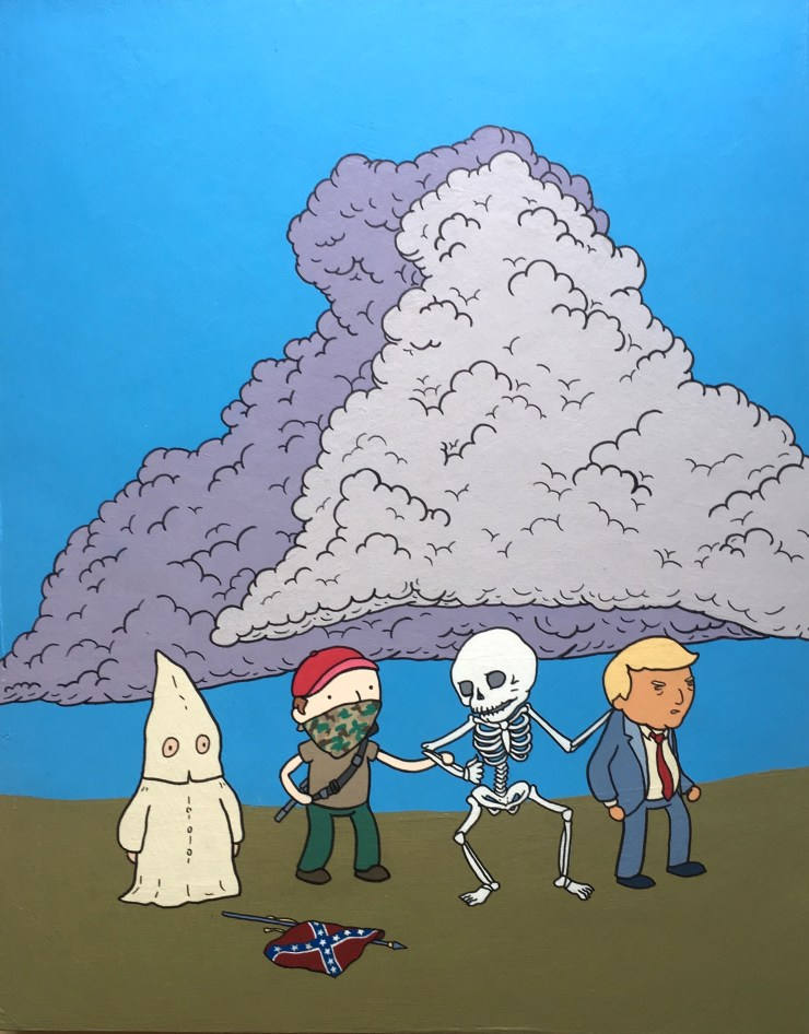 trump dance of death painting