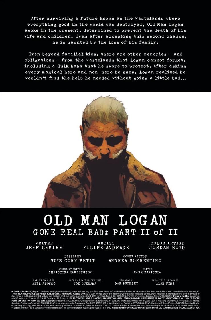 Marvel Preview: Old Man Logan #20