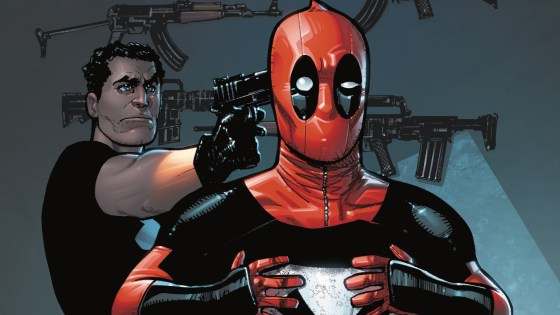 When Punisher and Deadpool find themselves in disagreement over the criminal known as The Bank, they're in for one of the most brutal fights of their lives! Can Frank kill Wade over and over without ever dying once himself? Or will Wade bug him until he welcomes death?