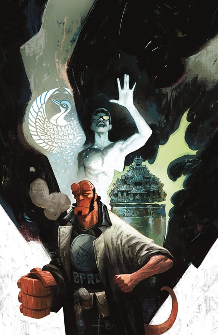 In the finale of this two-part story, we pick up where we last left our titular hero as Hellboy and his team simultaneously face off against bizarre horse and bull man hybrids, as well as a British agent bent on using the power of souls to rule the world!