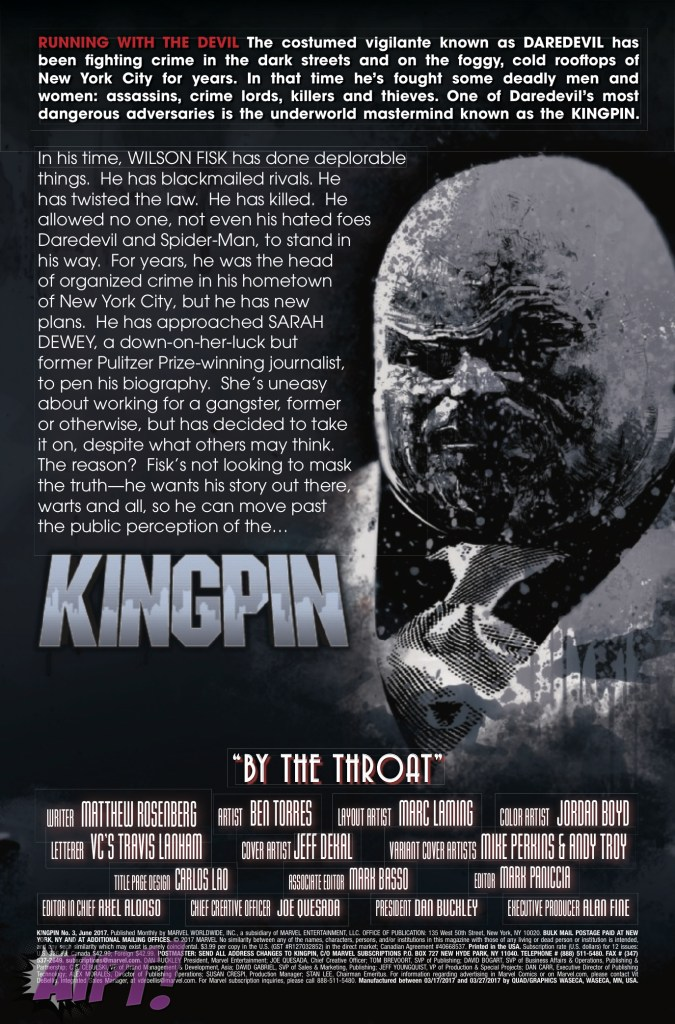 [EXCLUSIVE] Marvel Preview: Kingpin #3