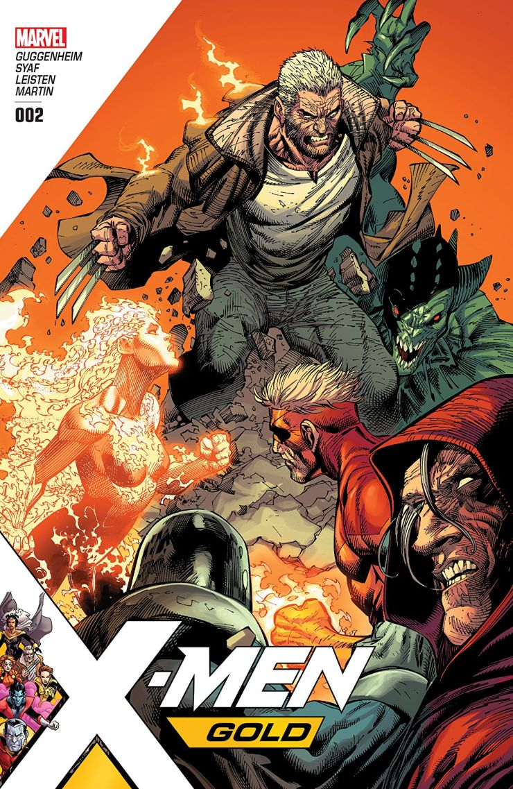 It's the X-Men versus the Brotherhood of Evil Mutants, but not all is as it seems. Magma leads a new team of baddies in an attack on humanity that has whipped up anti-mutant hysteria, all while an unfamiliar threat waits in the wings.