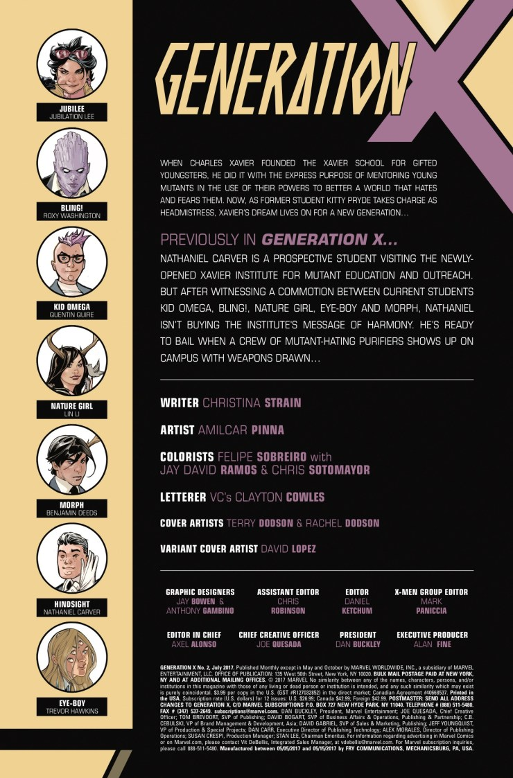 Marvel Preview: Generation X #2