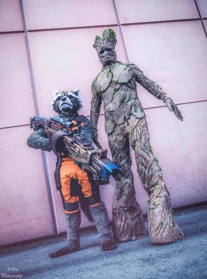 Guardians of the Galaxy: Groot and Rocket Raccoon Cosplay by Edes and Jerome