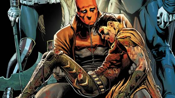 """Red Hood and The Outlaws #10 continues its story with part two of """"Who is Artemis?"""" This issue does extremely well with showing off the more human side of the Dark Trinity. While searching for the bow of Ra Artemis comes face to face with the past as she finds that her old friend Akila is alive and well. A lot of emotion is shown in this particular story between Artemis and Akila. Artemis believed she had killed Akila after she was corrupted by the bow of Ra. Seeing that light side to Artemis that we don't normally get to see really shows you that her harder exterior covers up more than we never got to know."""