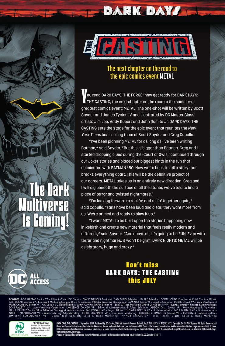 DC Preview: Dark Days: The Casting #1