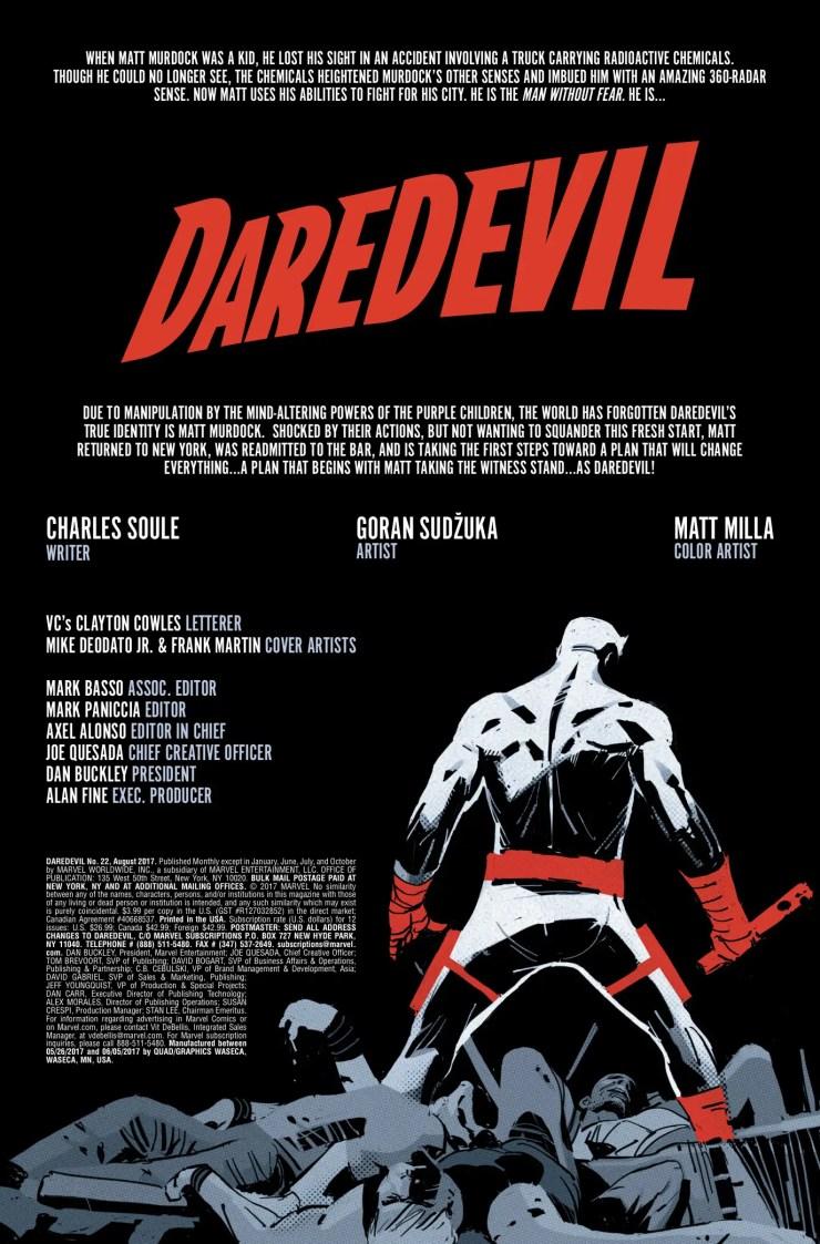 Marvel Preview: Daredevil #22