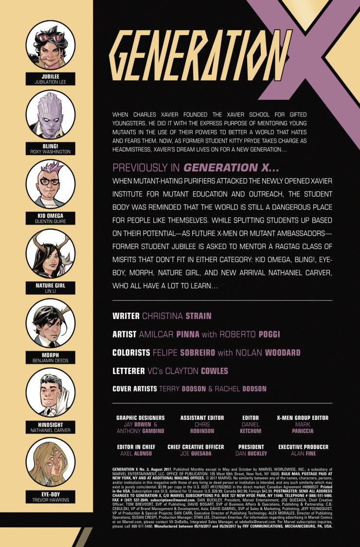Marvel Preview: Generation X #3