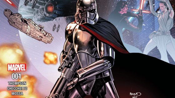 It's the galaxy's big mystery: How did Captain Phasma survive the destruction of the Starkiller Base in the final moments of Star Wars: The Force Awakens? All will be revealed this September, when superstar writer Kelly Thompson (Hawkeye, Star Wars Annual) teams with blockbuster artist Marco Checchetto (Star Wars: Shattered Empire, Star Wars: Screaming Citadel) to bring you JOURNEY TO STAR WARS: THE LAST JEDI – CAPTAIN PHASMA #1, a four-part miniseries bridging the events between Star Wars: The Force Awakens and the upcoming Star Wars: The Last Jedi!
