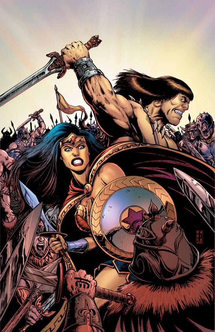 Legends Collide in New Wonder Woman/Conan Crossover