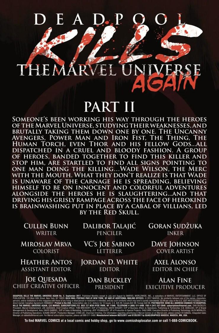 Marvel Preview: Deadpool Kills the Marvel Universe Again #2