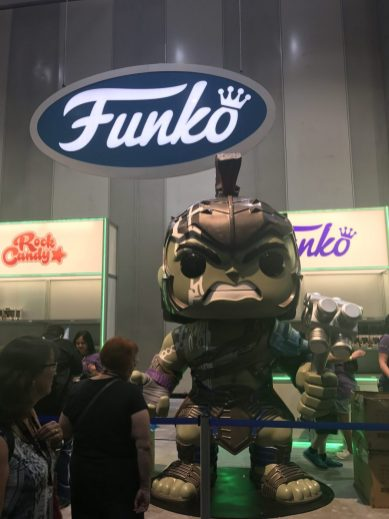 The Funko area is protected by Hulk!