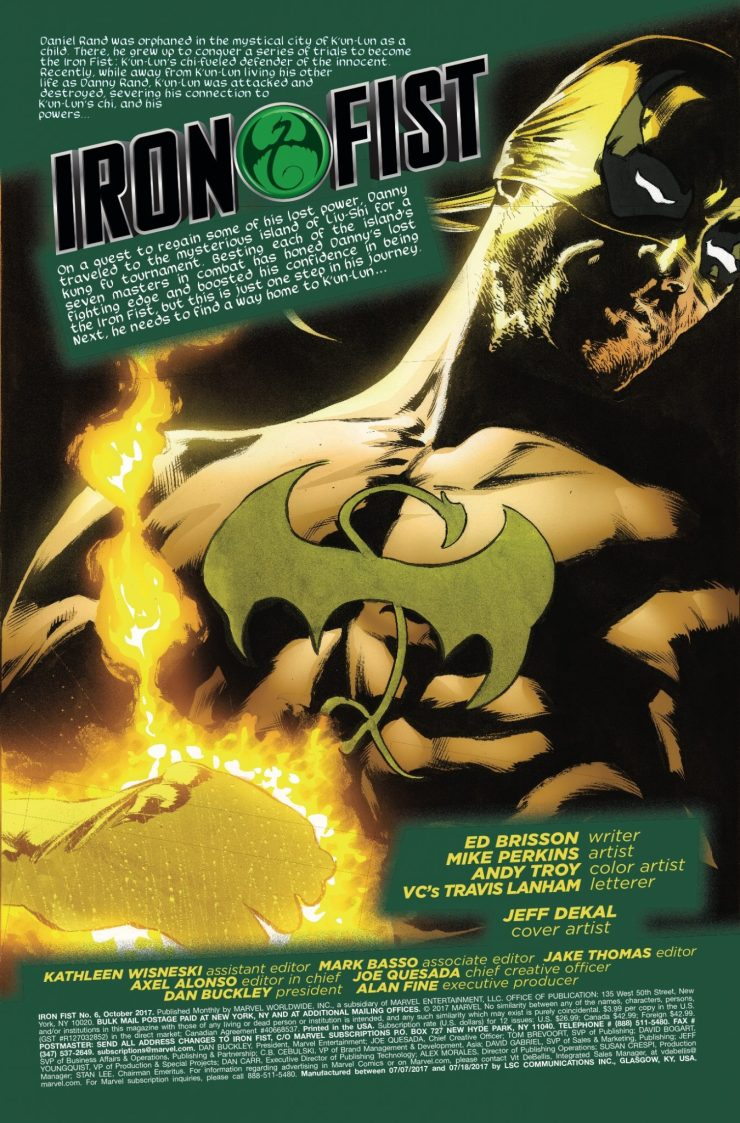 Marvel Preview: Iron Fist #6