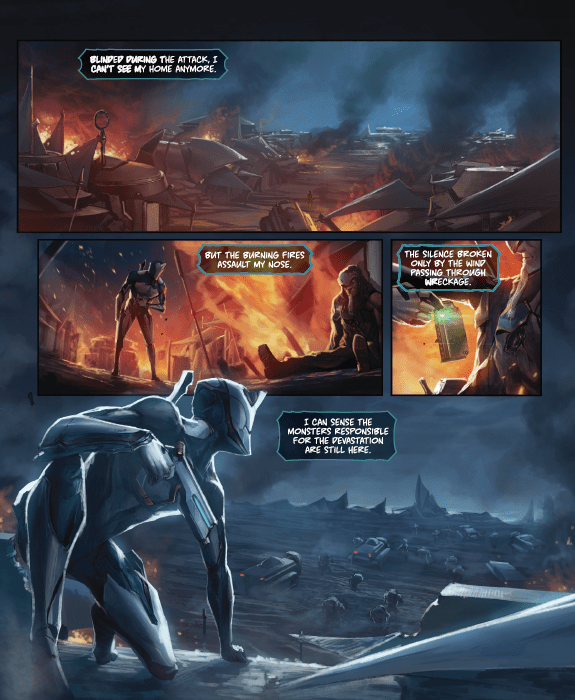 [Free download] Read video game turned comic 'Warframe' from creators Matt Hawkins and Ryan Cady now!