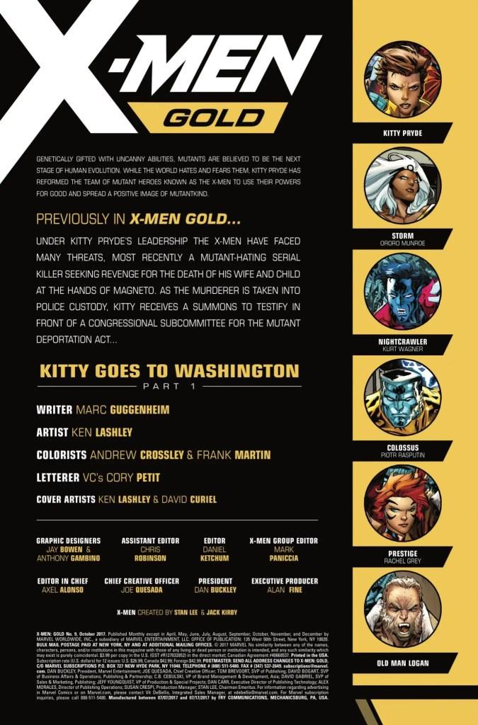 Marvel Preview: X-Men Gold #9