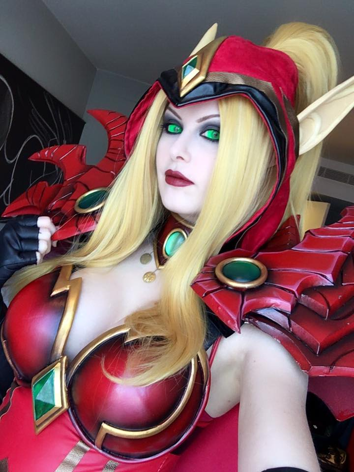 "Valeera Sanguinar is an important character in Blizzard lore, playing integral roles in World of Warcraft, Heroes of the Storm and Hearthstone.  Cosplayer Kinpatsu brings that eminence to the Blood Elf rogue's cosplay representation as well, with this detailed costume made from ""90% EVA foam and 10% black worbla with resin cast gems. The swords are also cast in clear resin!"""