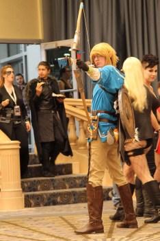 Link spies an Octorock