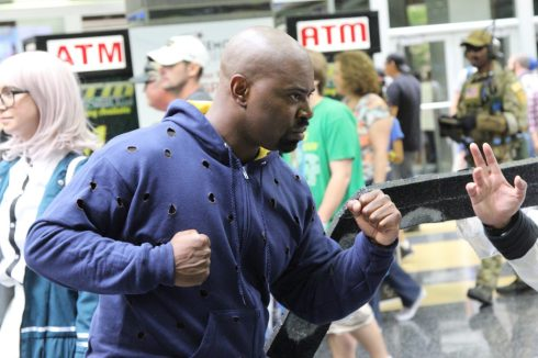 Luke Cage must go through a lot of hoodies.