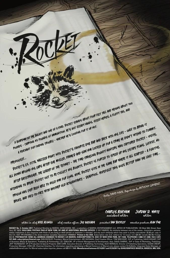 Marvel Preview: Rocket #4