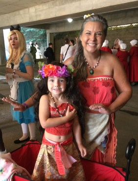 So many wonderful Moana cosplayers this year. I loved this Grandma and young Moana pair.