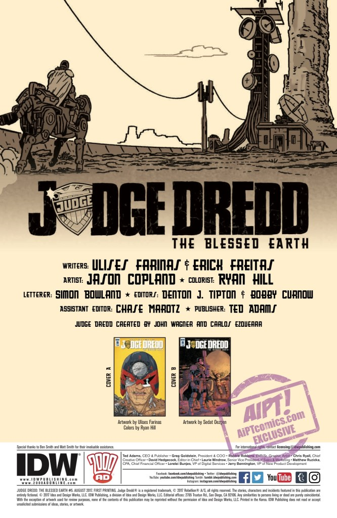 [EXCLUSIVE] IDW Preview: Judge Dredd: The Blessed Earth #5