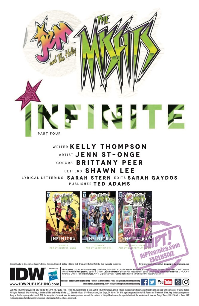 [EXCLUSIVE] IDW Preview: Jem and the Holograms: The Misfits: Infinite #2
