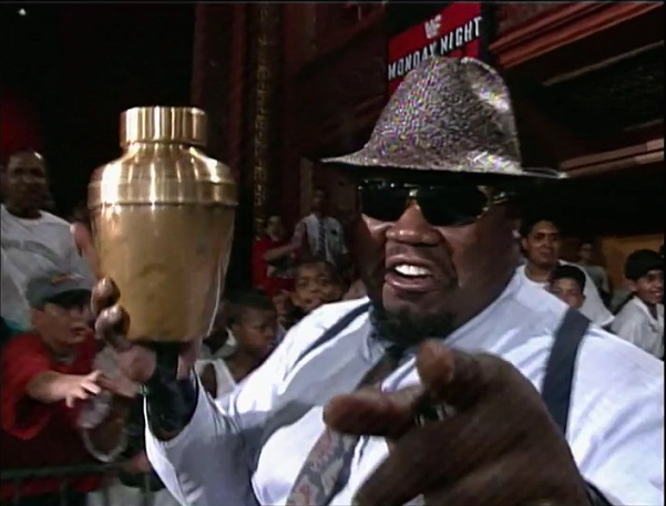 Mr. Hughes with Undertaker's Urn