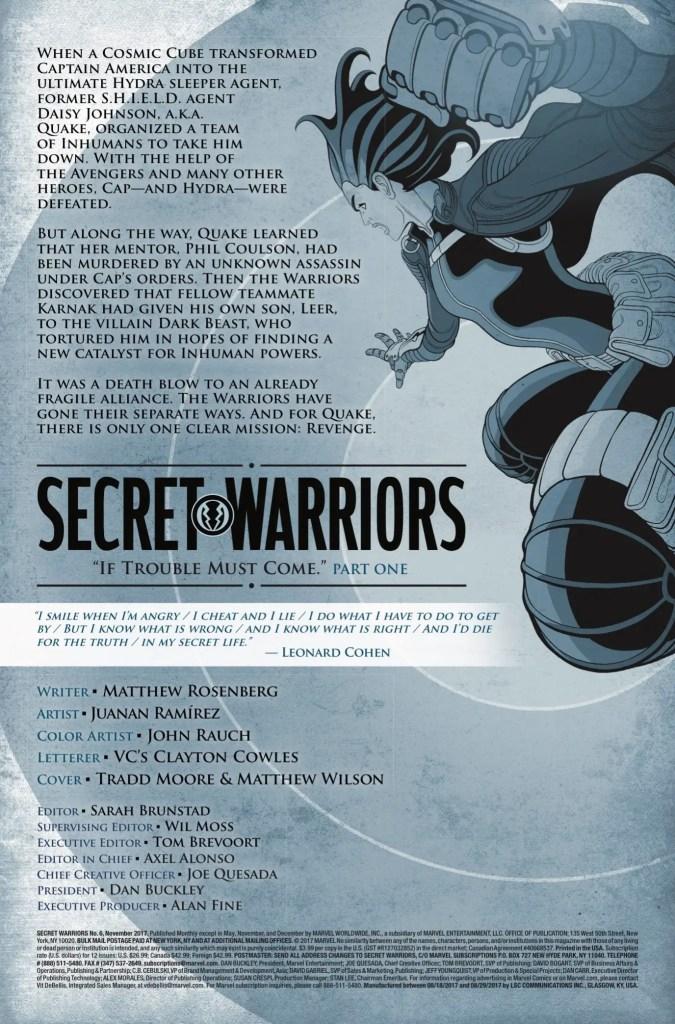 Marvel Preview: Secret Warriors #6