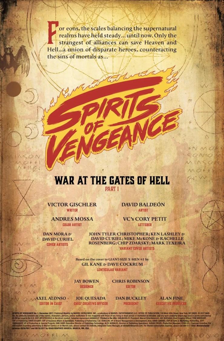 Marvel Preview: Spirits of Vengeance #1