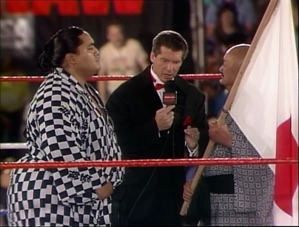 Vince McMahon Interviewing Yokozuna and Mr. Fuji