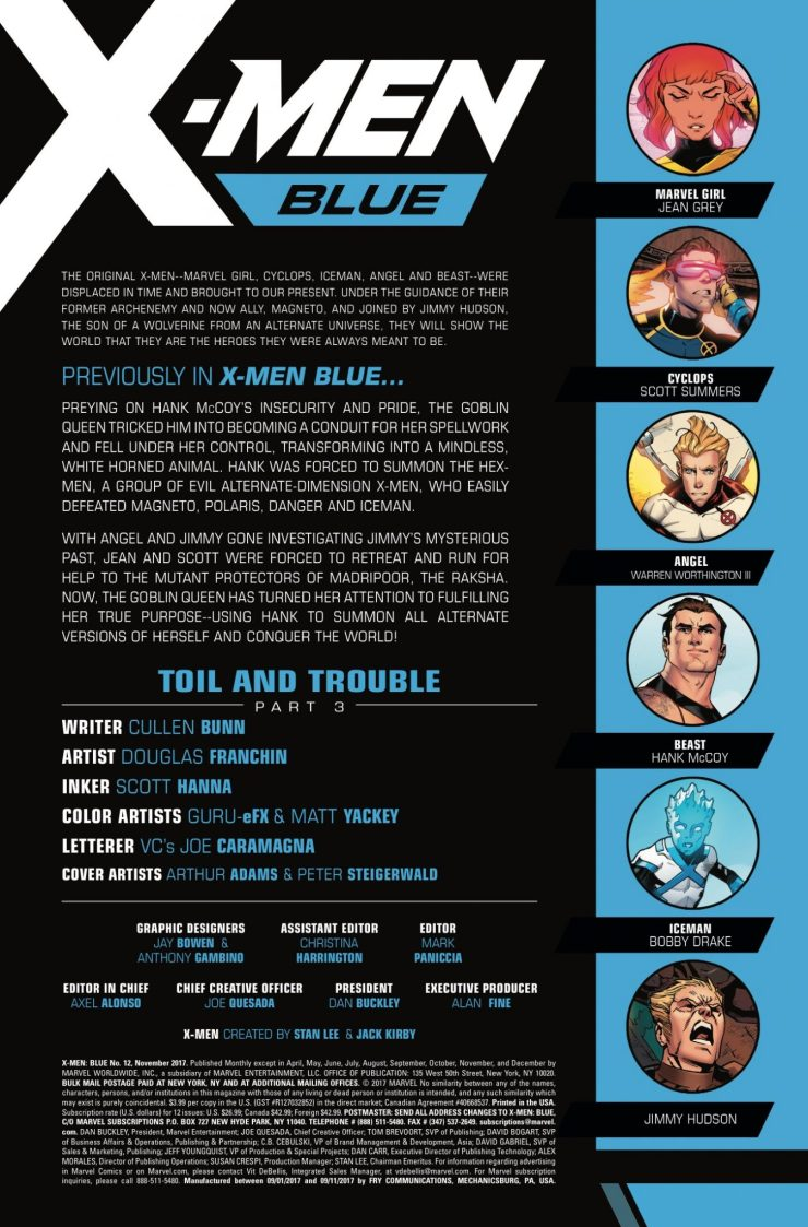Marvel Preview: X-Men Blue #12