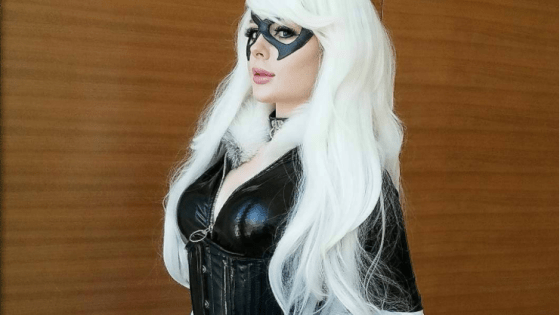 The aptly-named Jenna Lynn Meowri presents her Black Cat cosplay.