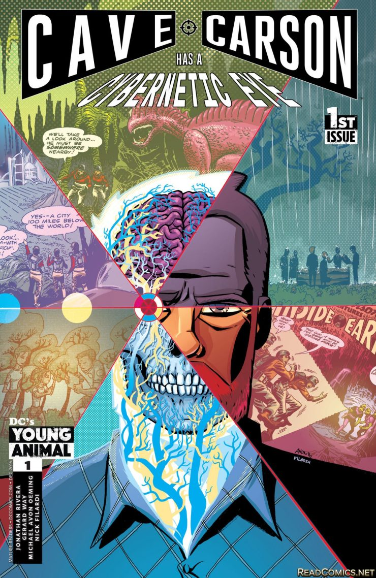 No one in DC knew why Cave Carson had a cybernetic eye, leading to Gerard Way's series