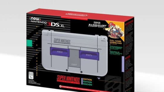 The Nintendo 3DS XL SNES Edition is coming to the US as an Amazon exclusive