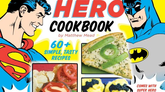 'The Official DC Super Hero Cookbook' features some cute ideas, but is not very challenging