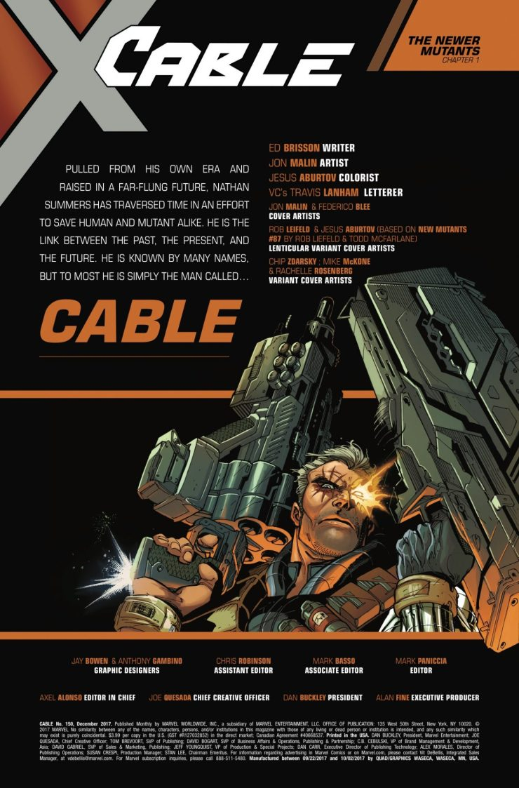 Marvel Preview: Cable #150