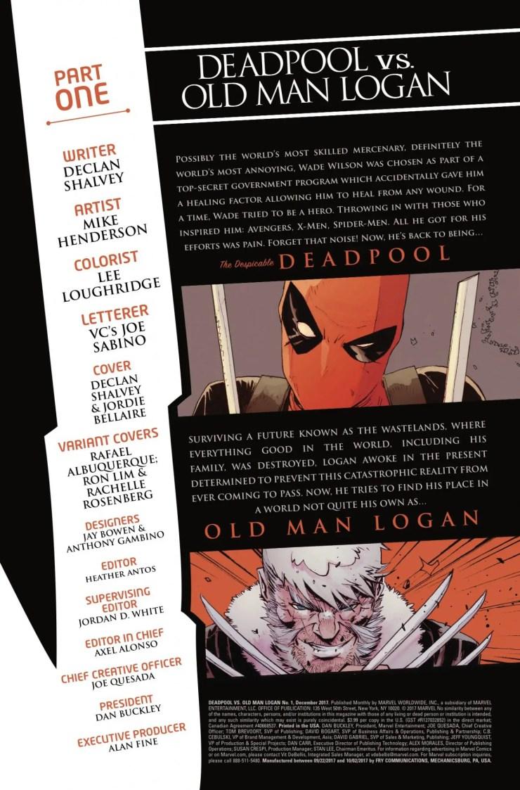Marvel Preview: Deadpool vs. Old Man Logan #1 [Lettered]