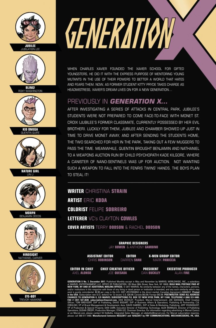 Marvel Preview: Generation X #7