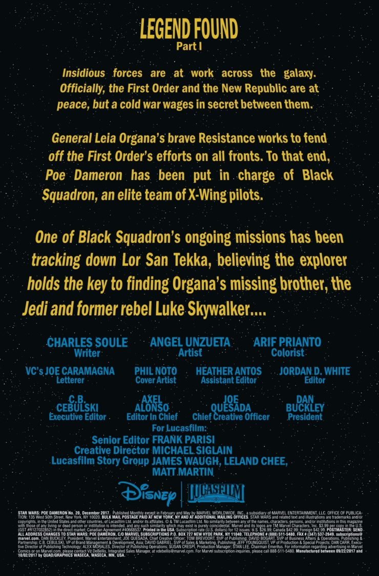 Marvel Preview: Star Wars Poe Dameron #20