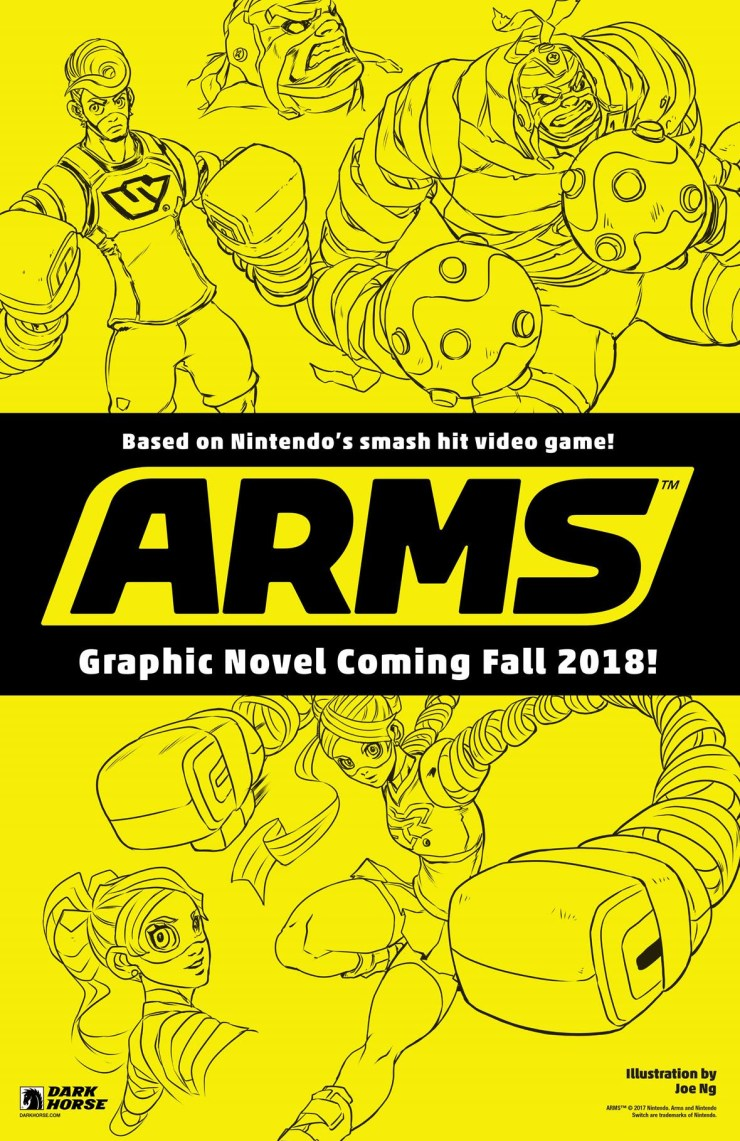 "NYCC 2017: Dark Horse packs a punch with new ""Arms"" graphic novels"