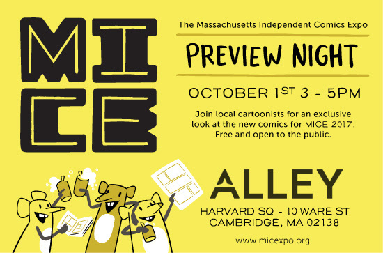 Calling all Boston indie comic fans: A MICE 2017 preview