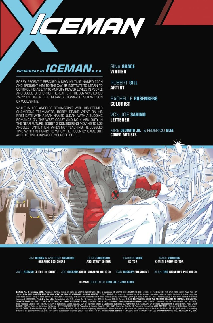Marvel Preview: Iceman #8