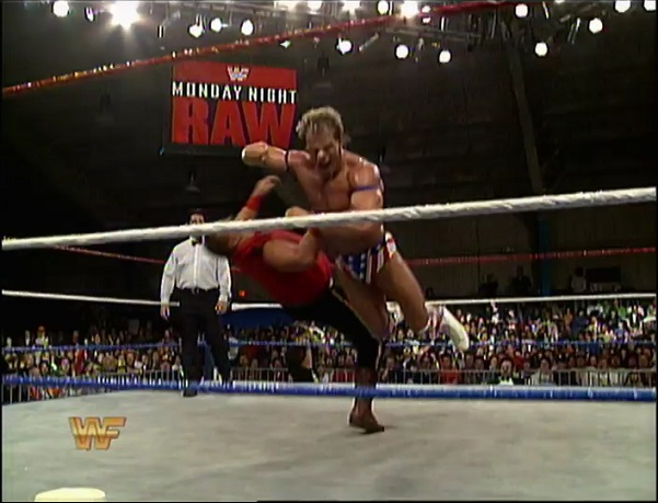Lex Luger Knocks Out Pierre With A Forearm