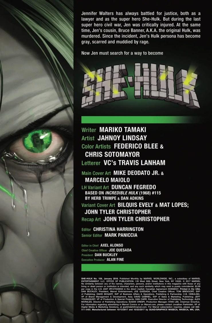 Marvel Preview: She-Hulk #159