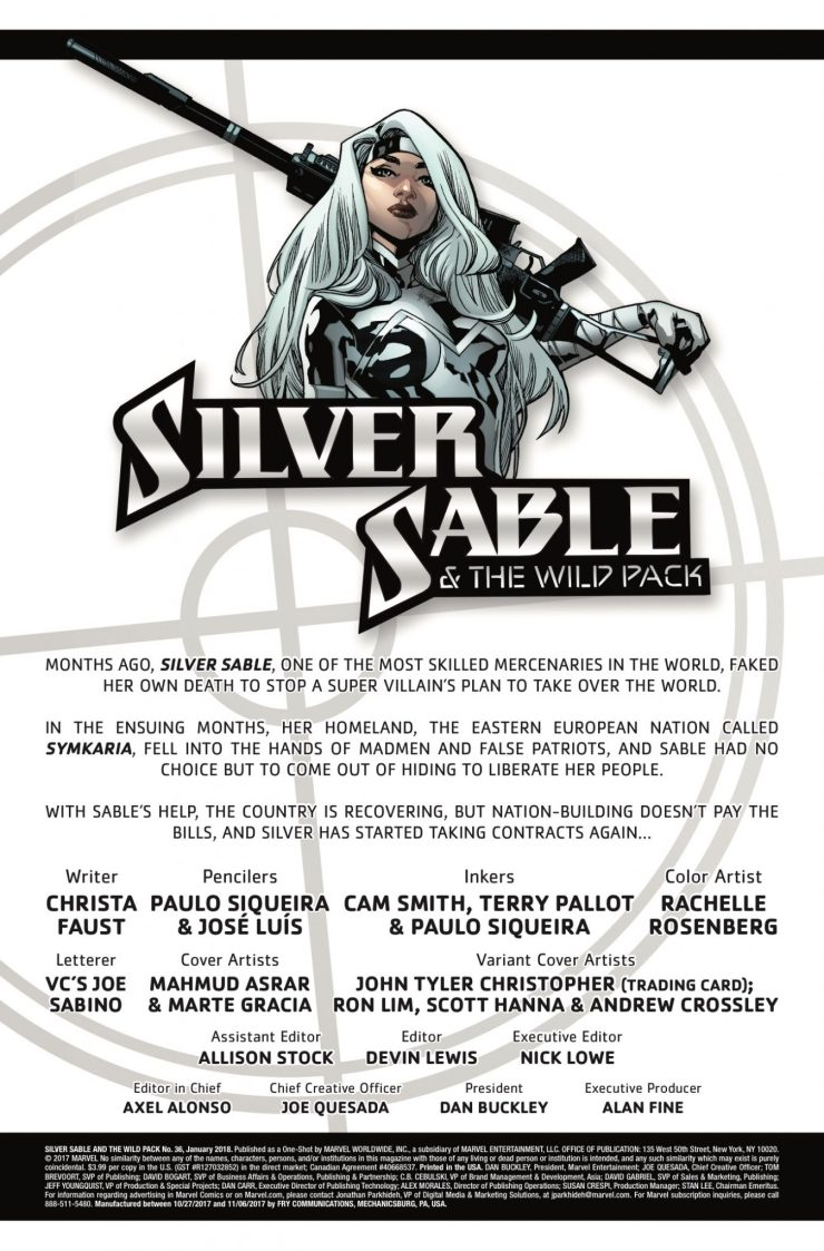 Marvel Preview: Silver Sable and the Wild Pack #36