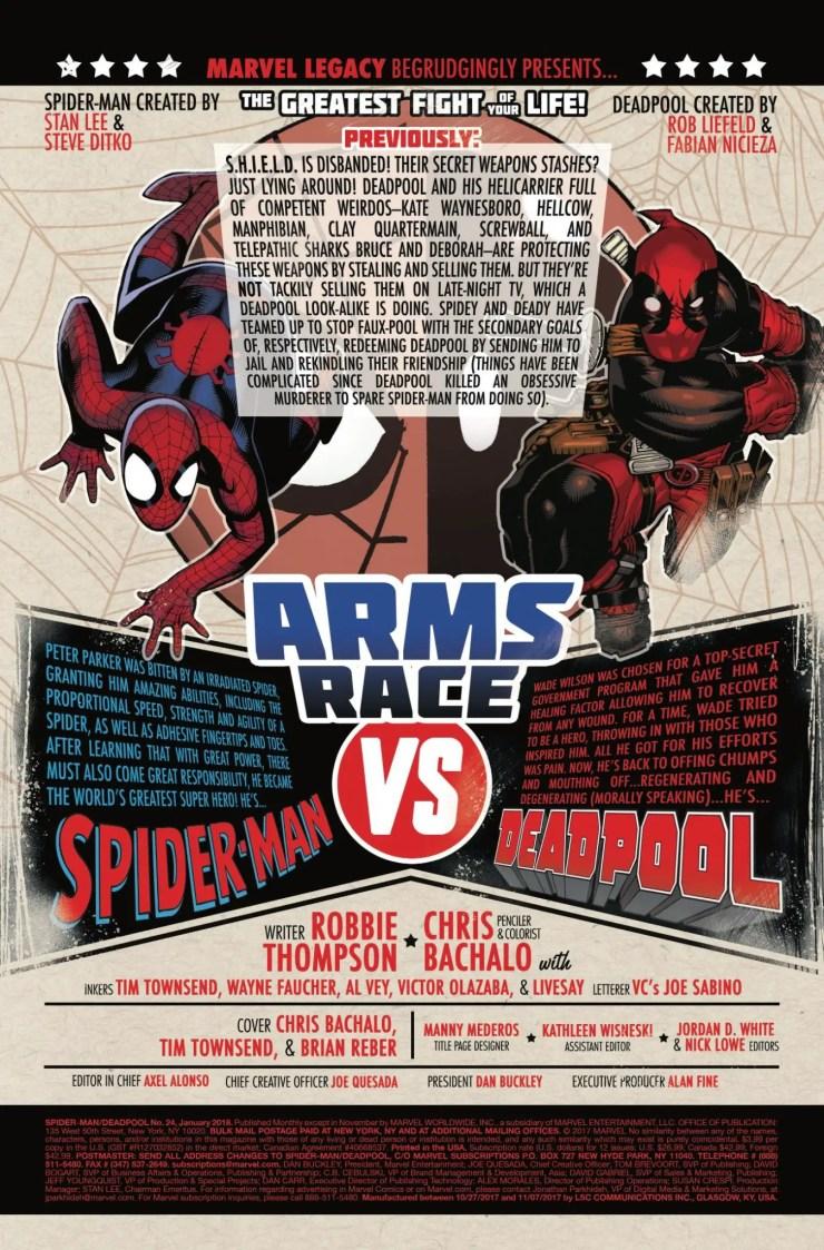 Marvel Preview: Spider-Man/Deadpool #24