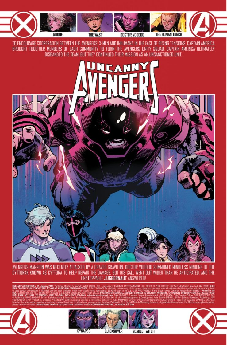 Marvel Preview: Uncanny Avengers #29