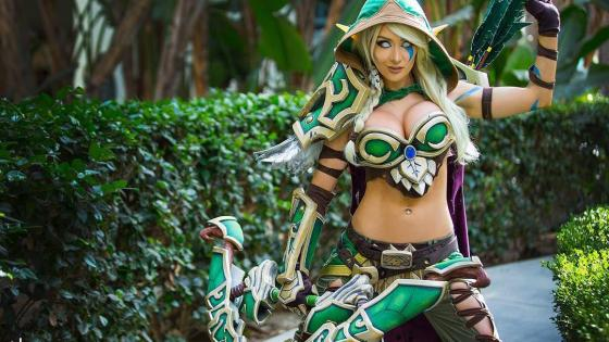 Kate Sarkissian's cosplay of the ranger-captain of Silvermoon and sister to Sylvanas Windrunner: Alleria.